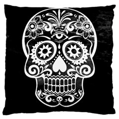 Skull Large Cushion Cases (one Side)  by ImpressiveMoments