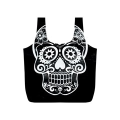 Skull Full Print Recycle Bags (s)  by ImpressiveMoments