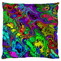 Powerfractal 4 Large Flano Cushion Cases (two Sides)  by ImpressiveMoments