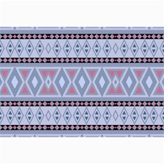 Fancy Tribal Border Pattern Blue Collage 12  X 18  by ImpressiveMoments