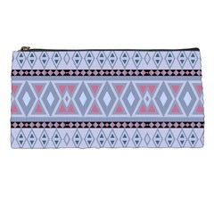 Fancy Tribal Border Pattern Blue Pencil Cases by ImpressiveMoments