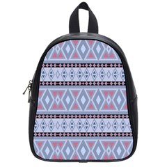 Fancy Tribal Border Pattern Blue School Bags (small)  by ImpressiveMoments