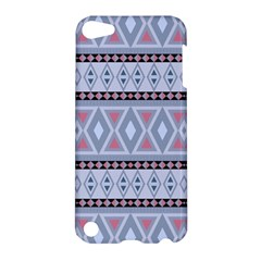 Fancy Tribal Border Pattern Blue Apple Ipod Touch 5 Hardshell Case by ImpressiveMoments