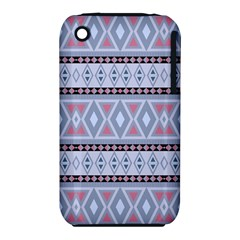 Fancy Tribal Border Pattern Blue Apple Iphone 3g/3gs Hardshell Case (pc+silicone) by ImpressiveMoments
