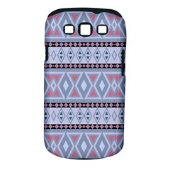 Fancy Tribal Border Pattern Blue Samsung Galaxy S Iii Classic Hardshell Case (pc+silicone) by ImpressiveMoments