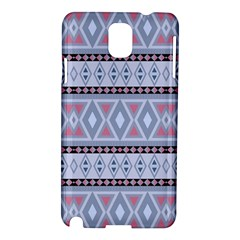 Fancy Tribal Border Pattern Blue Samsung Galaxy Note 3 N9005 Hardshell Case by ImpressiveMoments