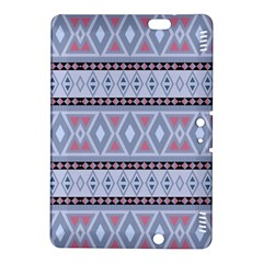 Fancy Tribal Border Pattern Blue Kindle Fire HDX 8.9  Hardshell Case by ImpressiveMoments