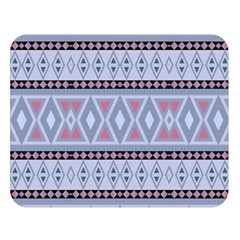 Fancy Tribal Border Pattern Blue Double Sided Flano Blanket (large)  by ImpressiveMoments