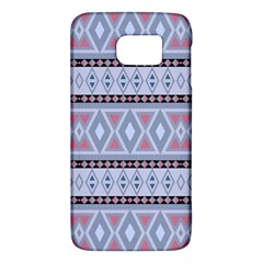 Fancy Tribal Border Pattern Blue Galaxy S6 by ImpressiveMoments
