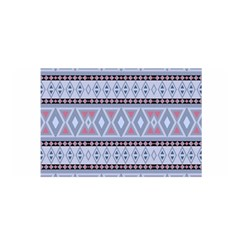 Fancy Tribal Border Pattern Blue Satin Wrap by ImpressiveMoments