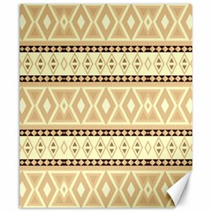 Fancy Tribal Border Pattern Beige Canvas 20  X 24   by ImpressiveMoments