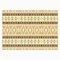Fancy Tribal Border Pattern Beige Large Glasses Cloth (2 Side) by ImpressiveMoments