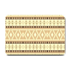 Fancy Tribal Border Pattern Beige Small Doormat  by ImpressiveMoments