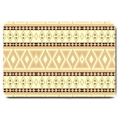 Fancy Tribal Border Pattern Beige Large Doormat  by ImpressiveMoments