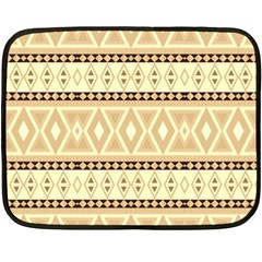 Fancy Tribal Border Pattern Beige Double Sided Fleece Blanket (mini)  by ImpressiveMoments