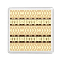 Fancy Tribal Border Pattern Beige Memory Card Reader (square)  by ImpressiveMoments