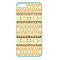 Fancy Tribal Border Pattern Beige Apple Seamless Iphone 5 Case (color) by ImpressiveMoments