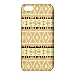 Fancy Tribal Border Pattern Beige Apple Iphone 5c Hardshell Case by ImpressiveMoments