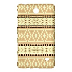 Fancy Tribal Border Pattern Beige Samsung Galaxy Tab 4 (8 ) Hardshell Case