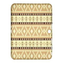 Fancy Tribal Border Pattern Beige Samsung Galaxy Tab 4 (10.1 ) Hardshell Case  by ImpressiveMoments