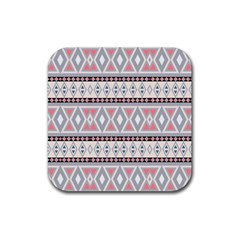 Fancy Tribal Border Pattern Soft Rubber Square Coaster (4 Pack)  by ImpressiveMoments