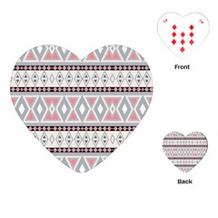 Fancy Tribal Border Pattern Soft Playing Cards (heart)  by ImpressiveMoments