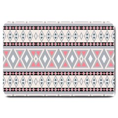 Fancy Tribal Border Pattern Soft Large Doormat  by ImpressiveMoments