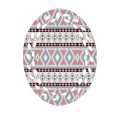 Fancy Tribal Border Pattern Soft Ornament (oval Filigree)  by ImpressiveMoments