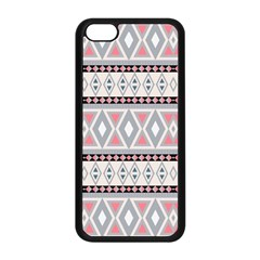 Fancy Tribal Border Pattern Soft Apple Iphone 5c Seamless Case (black) by ImpressiveMoments