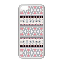 Fancy Tribal Border Pattern Soft Apple Iphone 5c Seamless Case (white) by ImpressiveMoments