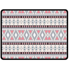 Fancy Tribal Border Pattern Soft Double Sided Fleece Blanket (large)  by ImpressiveMoments