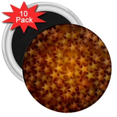 Gold Stars 3  Magnets (10 pack)  by KirstenStar