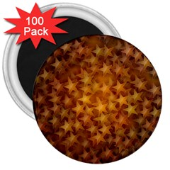 Gold Stars 3  Magnets (100 Pack) by KirstenStar
