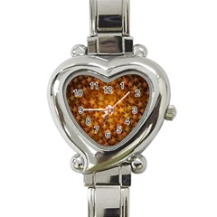 Gold Stars Heart Italian Charm Watch by KirstenStar