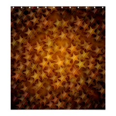 Gold Stars Shower Curtain 66  X 72  (large)  by KirstenStar