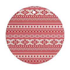 Fancy Tribal Borders Pink Ornament (round)  by ImpressiveMoments