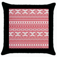 Fancy Tribal Borders Pink Throw Pillow Cases (black) by ImpressiveMoments
