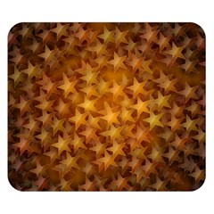 Gold Stars Double Sided Flano Blanket (small)  by KirstenStar