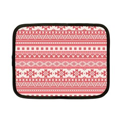 Fancy Tribal Borders Pink Netbook Case (small)  by ImpressiveMoments