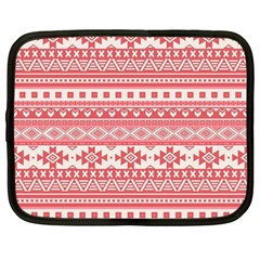 Fancy Tribal Borders Pink Netbook Case (large)	 by ImpressiveMoments
