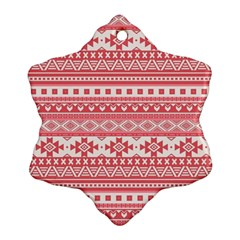 Fancy Tribal Borders Pink Snowflake Ornament (2 Side) by ImpressiveMoments