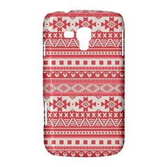 Fancy Tribal Borders Pink Samsung Galaxy Duos I8262 Hardshell Case  by ImpressiveMoments