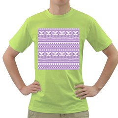 Fancy Tribal Borders Lilac Green T Shirt by ImpressiveMoments