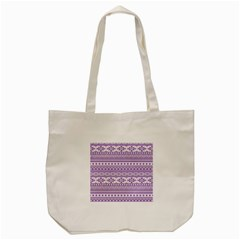 Fancy Tribal Borders Lilac Tote Bag (cream)