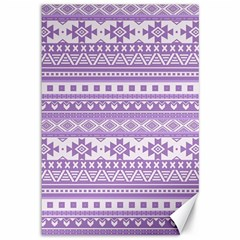 Fancy Tribal Borders Lilac Canvas 12  X 18   by ImpressiveMoments