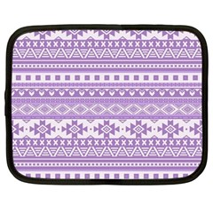 Fancy Tribal Borders Lilac Netbook Case (large)	 by ImpressiveMoments