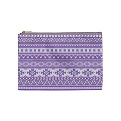 Fancy Tribal Borders Lilac Cosmetic Bag (medium)  by ImpressiveMoments