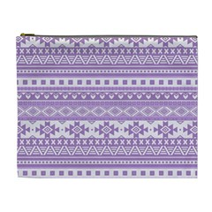Fancy Tribal Borders Lilac Cosmetic Bag (xl) by ImpressiveMoments