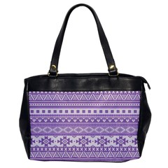 Fancy Tribal Borders Lilac Office Handbags by ImpressiveMoments