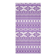 Fancy Tribal Borders Lilac Shower Curtain 36  X 72  (stall)  by ImpressiveMoments
